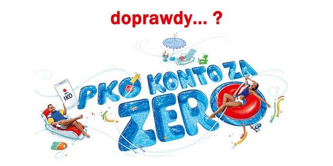 Konto bankowe PKO BP konto za zero