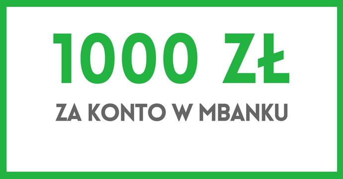 eKonto 1000 zł mBank