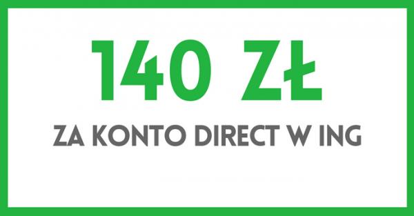 140 zł premii ING Direct
