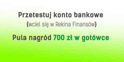 Konkurs test konta bankowego