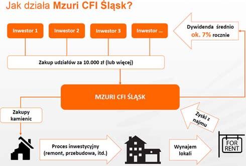 Schemat grupowej inwestycji w nieruchomości