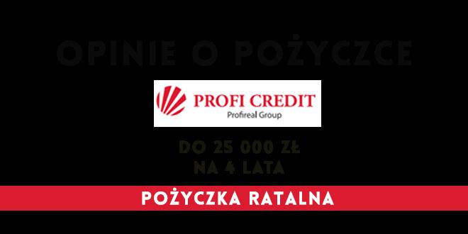 Opinie o profi credit pożyczka ratalna