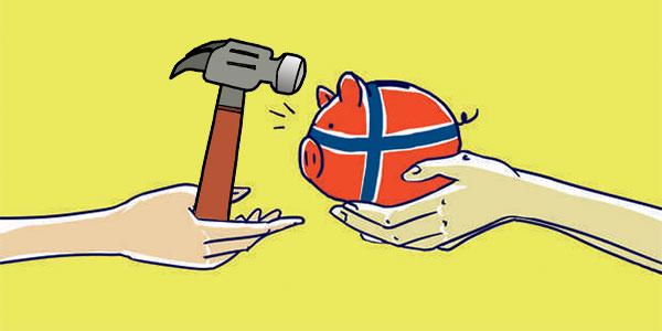 Świnka skarbonka Norwegia